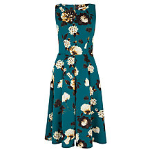 Buy Closet Floral Midi Skater Dress, Green Online at johnlewis.com