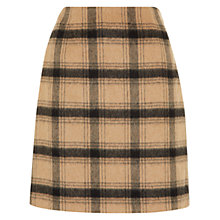 Buy Hobbs Camel Josie Skirt, Black Camel Online at johnlewis.com