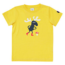 Buy Polarn O. Pyret Children's Animal Motif T-Shirt, Yellow Online at johnlewis.com