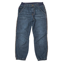 Buy Polarn O. Pyret Children's Cargo Jeans, Blue Online at johnlewis.com