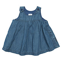 Buy Polarn O. Pyret Baby Denim Dress, Denim Online at johnlewis.com