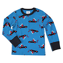 Buy Polarn O. Pyret Baby Elk Top, Blue Online at johnlewis.com