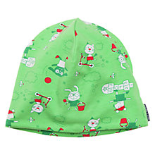 Buy Polarn O. Pyret Baby Print Beanie Hat, Green Online at johnlewis.com
