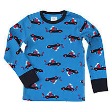 Buy Polarn O. Pyret Children's Elk Long Sleeve Top, Blue Online at johnlewis.com