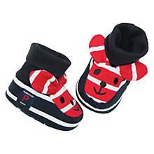 Buy Polarn O. Pyret Baby Bunny Slippers, Navy Online at johnlewis.com