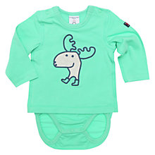 Buy Polarn O. Pyret Baby Elk Combo Bodysuit, Green Online at johnlewis.com