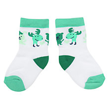 Buy Polarn O. Pyret Baby Animal Print Socks Online at johnlewis.com