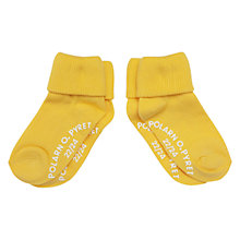 Buy Polarn O. Pyret Children's Anti Slip Socks, Pack of 2, Yellow Online at johnlewis.com