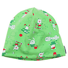 Buy Polarn O. Pyret Children's Animal Print Beanie Hat, Green Online at johnlewis.com