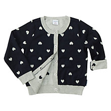 Buy Polarn O. Pyret Girls' Heart Print Cardigan Online at johnlewis.com