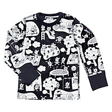 Buy Polarn O. Pyret Baby Playtime Long Sleeve Top, Navy/White Online at johnlewis.com