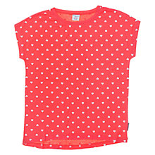 Buy Polarn O. Pyret Girls' Heart Top, Pink Online at johnlewis.com