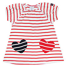 Buy Polarn O. Pyret Baby Heart Pocket Dress, Red/White Online at johnlewis.com