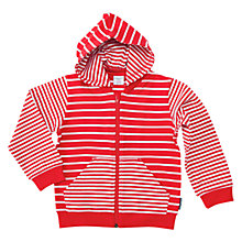 Buy Polarn O. Pyret Children's Stripe Hoodie, Red Online at johnlewis.com