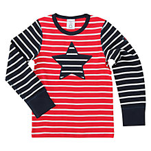 Buy Polarn O. Pyret Children's Star/Stripe Long Sleeve Top, Navy Online at johnlewis.com