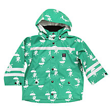 Buy Polarn O. Pyret Children's Waterproof Printed Coat, Green Online at johnlewis.com