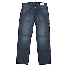 Buy Polarn O. Pyret Children's Denim Wash Jeans, Blue Online at johnlewis.com