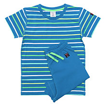 Buy Polarn O. Pyret Children's Shortie Pyjamas, Blue Online at johnlewis.com