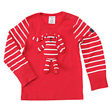 Buy Polarn O. Pyret Baby Bunny Long Sleeve Top, Red Online at johnlewis.com