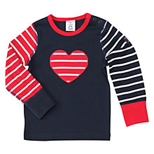 Buy Polarn O. Pyret Baby Heart Long Sleeve Top, Multi Online at johnlewis.com
