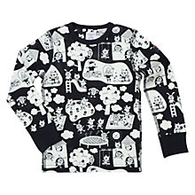 Buy Polarn O. Pyret Children's Playtime Sweatshirt, Navy/White Online at johnlewis.com
