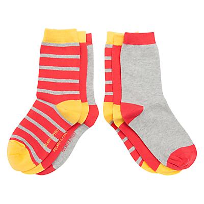 Polarn O. Pyret Children's Socks, Pack of 3