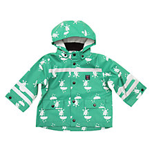 Buy Polarn O. Pyret Baby Waterproof Printed Coat, Green Online at johnlewis.com