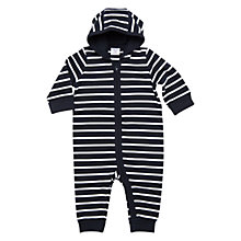 Buy Polarn O. Pyret Baby Striped Bodysuit, Navy Online at johnlewis.com