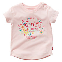Buy Levi's Baby California T-Shirt, Pink Online at johnlewis.com