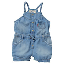 Buy Levi's Baby Playsuit, Denim Online at johnlewis.com