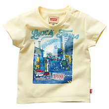 Buy Levi's Baby Short Sleeve California T-Shirt, Yellow Online at johnlewis.com