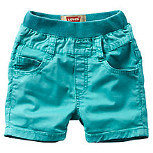 Buy Levi's Baby Rib Waist Shorts, Green Online at johnlewis.com