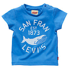 Buy Levi's Baby Short Sleeve Whale T-Shirt, Blue Online at johnlewis.com