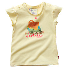 Buy Levi's Parrot Short Sleeve T-Shirt, Yellow Online at johnlewis.com