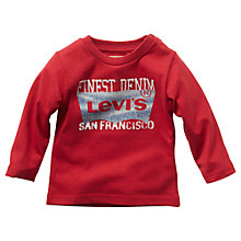 Buy Levi's Baby Long Sleeve Logo T-Shirt, Red Online at johnlewis.com