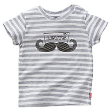 Buy Levi's Moustache Stripe T-Shirt, Grey Online at johnlewis.com