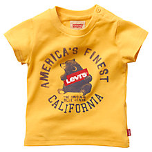 Buy Levi's Baby Bear Print T-Shirt, Yellow Online at johnlewis.com