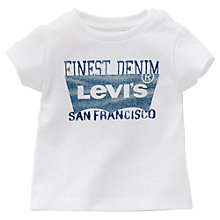 Buy Levi's Baby Short Sleeve Logo T-Shirt, White Online at johnlewis.com