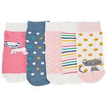 Buy John Lewis Cat & Spots Socks, Pack of 5, Multi Online at johnlewis.com