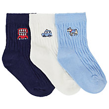 Buy John Lewis Cable Knit Socks, Pack of 3 Online at johnlewis.com