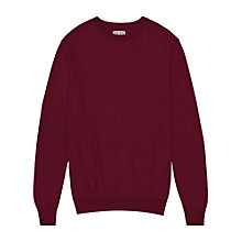 Buy Reiss Riddle Merino Wool Crew Neck Jumper, Berry Online at johnlewis.com