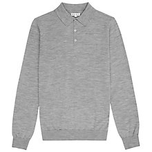 Buy Reiss Sphinx Merino Wool Polo Shirt, Grey Online at johnlewis.com