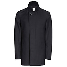 Buy Reiss Porto Funnel Collar Coat, Navy Online at johnlewis.com