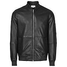 Buy Reiss Bardot Leather Jacket, Black Online at johnlewis.com