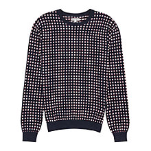 Buy Reiss Henry Square Weave Jumper Online at johnlewis.com