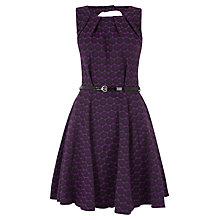 Buy Closet Circle Cut Out Skater Dress, Purple Online at johnlewis.com