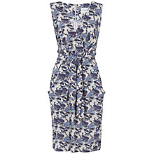 Buy Closet Paisley Tie Front Dress, Blue Online at johnlewis.com