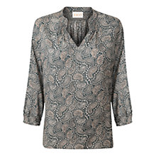 Buy East Lena Print Shirt, Slate Online at johnlewis.com