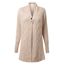 Buy East Cable Cardigan, Oyster Online at johnlewis.com