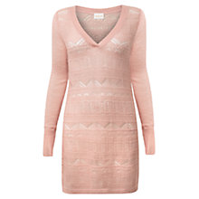 Buy East Lace Stitch Jumper, Pale Pink Online at johnlewis.com